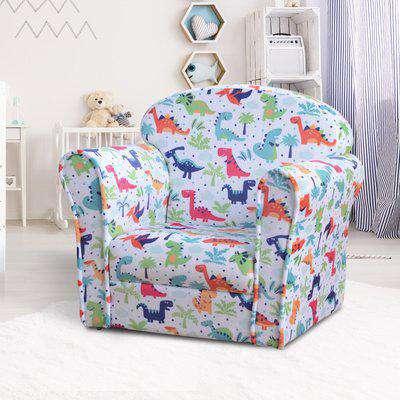 HOMCOM Children's Armchair Kids Mini Sofa, 50Lx39Wx44Hcm-Multi-colour