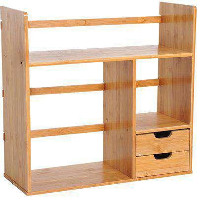 HOMCOM Desk Organiser, 48Lx19.5Lx46H cm-Natural Bamboo