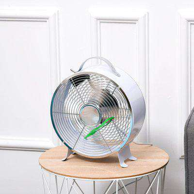 HOMCOM 26CM Electrical Table Desk Fan with 2-Speed Portable Personal Cooling Fan for Home Office Dorm, White