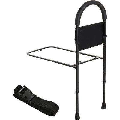 HOMCOM Height Adjustable Bedside Safety Rail with Storage Pocket Home Hospital Assist Bar