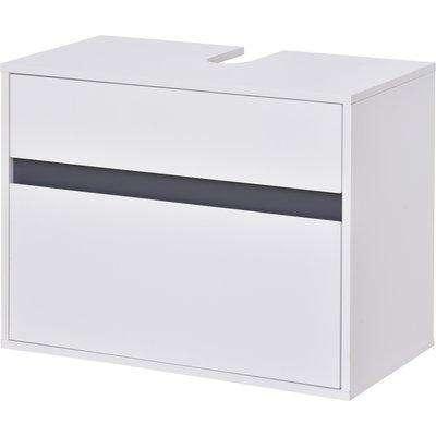 HOMCOM 70x50cm Under-Sink Storage Cabinet w/ Drawers Bathroom Cabinet Space Saver Organizer White