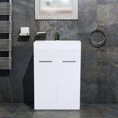 Kleankin Bathroom Cabinet Washstand-White