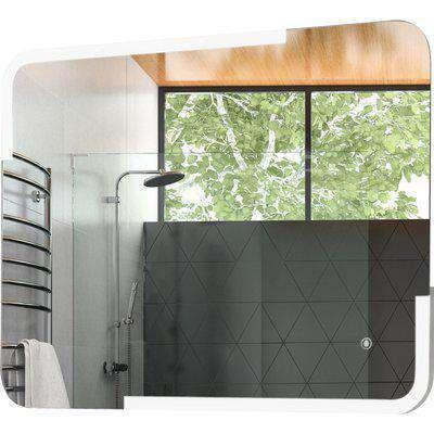 kleankin Glass LED Illuminated Bathroom Wall Mirror