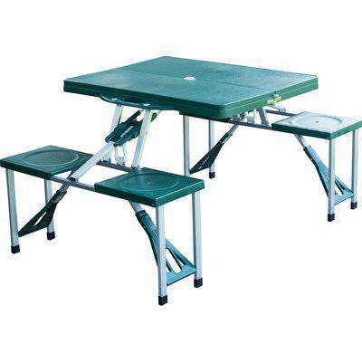 Outsunny Foldable Picnic Table Set - Green