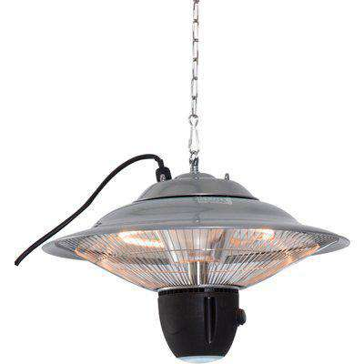 Outsunny Hanging Halogen Patio Heater 1500W, Auminium, 240V-Silver