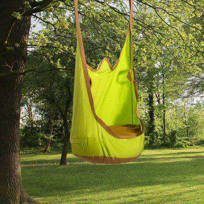 Outsunny Hanging Pod Swing Seat 100% Cotton Child Hammock Chair with Cushion Tent for Indoor Outdoor Garden