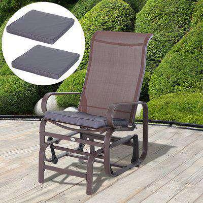Outsunny Polyester Set Of 2 Garden Chair Cushion Grey