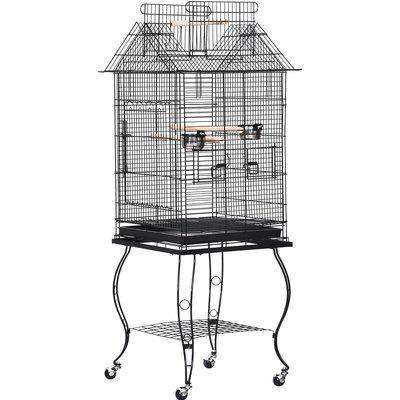 PawHut Bird Cage Pet Finch Perch Macaw Cockatiel Feeder Play House Stand