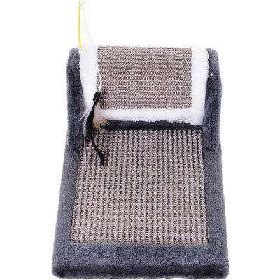 PawHut Cat Scratching Pad, 45Lx25Wx16H cm-Grey