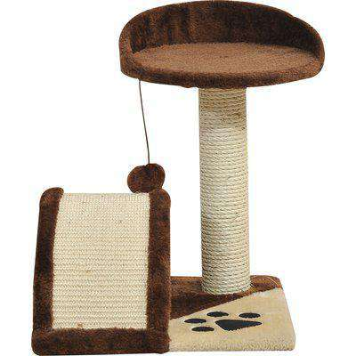 PawHut Cat Tree Scratching Climbing Playpen-Brown