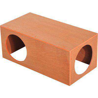 PawHut Indoor Outdoor Cat Hideaway Tunnel Garden Kitty Box House Pet Home Rabbit Hutch Run Play Cage Waterproof Shelter