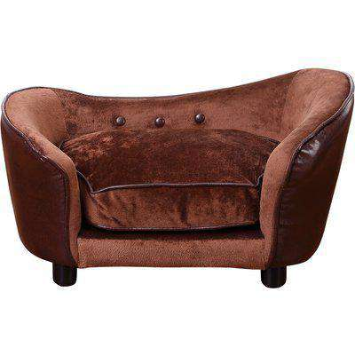 PawHut Pet Sofa,66.5L x 40.5W x 35.5H cm-Coffee