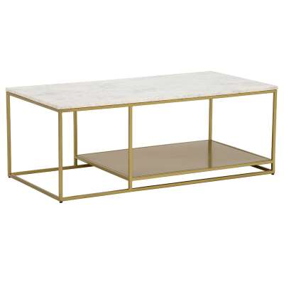 Alba Coffee Table, White Marble
