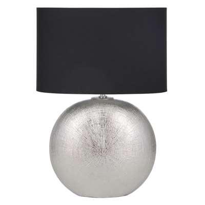 Alpha Silver Ceramic Table Lamp
