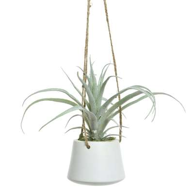 Artificial Long Leafed Hanging Potted Succulent Plant