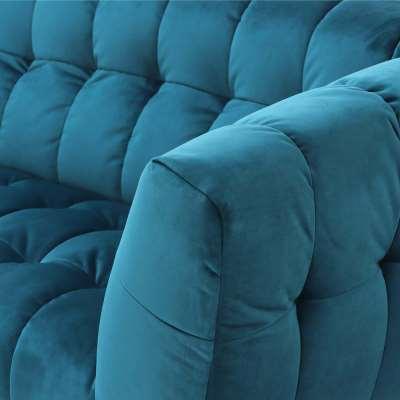 1.5 Seater Sofa  - Teal Velvet - W180 x D95 x H76cm - Barker and Stonehouse