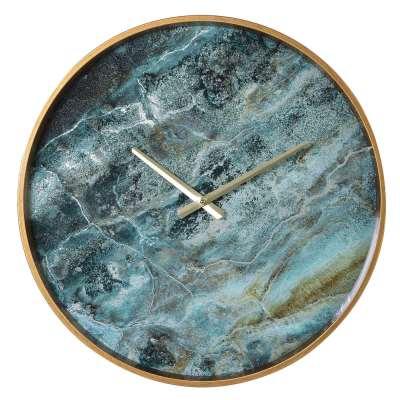 Jade Marble Wall Clock
