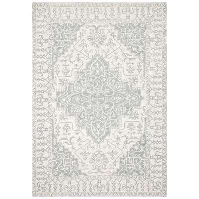 Windsor Wool Rug, Silver