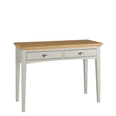 2 Drawer Ivory & Oak Dressing Table - W110 x D48 x H79cm - Barker & Stonehouse