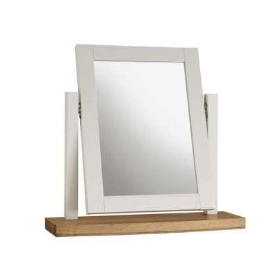 Carrington Vanity Mirror, Ivory and Oak
