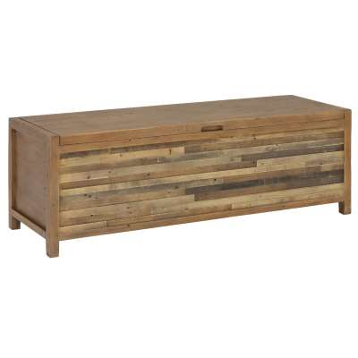 Charlie Reclaimed Wood Large Rectangular Blanket Box