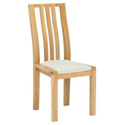 Ercol Bosco Dining Chair - Cream - Oak - W44 x D54 x H98cm - Barker & Stonehouse