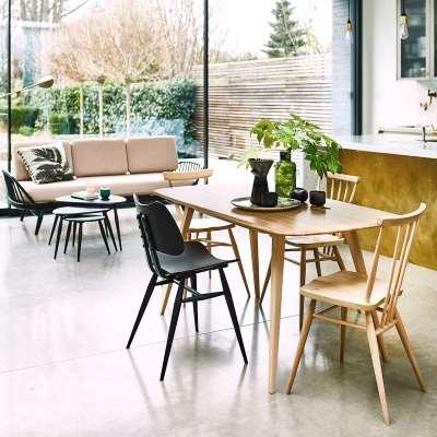 Ercol Originals Retro Plank Dining Table, Wood