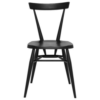 Ercol Originals Stacking Dining Chair - Black - Ash Wood -  - Barker & Stonehouse