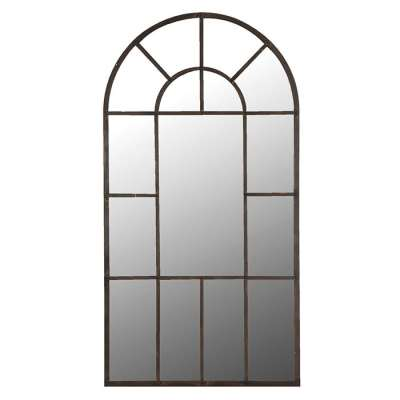 Window Pane Leaner Mirror