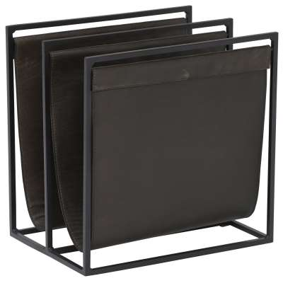 Hatton Double Magazine Holder, Fumee Leather and Black