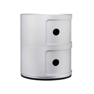 Kartell Componibili 2 Drawer Storage Unit, Silver