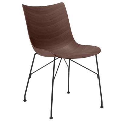 Kartell Smartwood Lounge Chair, Dark Wood