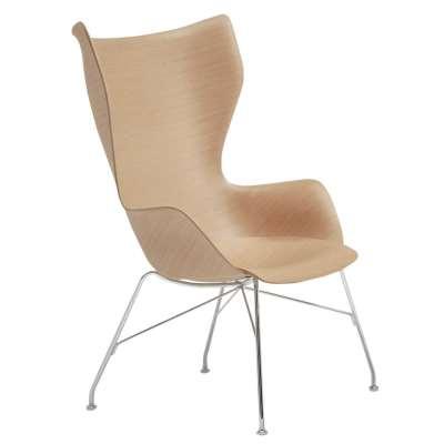 Kartell Smartwood Lounge Chair, Light Wood