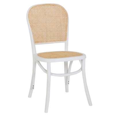 Lena Dining Chair, White Beech
