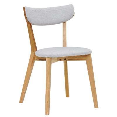 Lund Solid Wood Dining Chair - Grey - Oak - Plain - W47.5 x D50 x H80.5cm - Barker & Stonehouse