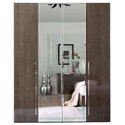 Lutyen 4 Door Wardrobe, Grey and Taupe