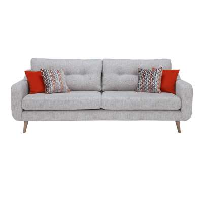 Myers Extra Large 4 Seater Fabric Sofa - Grey - W224 x D92 x H86cm - Barker & Stonehouse