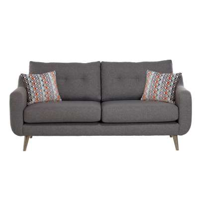 Myers Large 3 Seater Fabric Sofa - Grey - W189 x D92 x H86cm - Barker & Stonehouse