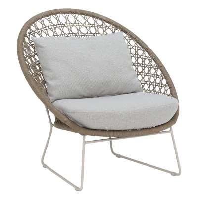 Mykonos Garden Lounge Chair, Camel and Linen