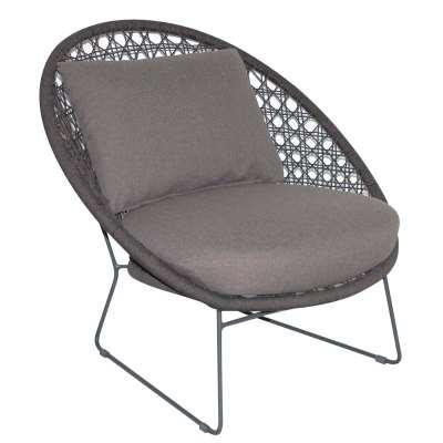 Mykonos Garden Lounge Chair, Graphite and Coal