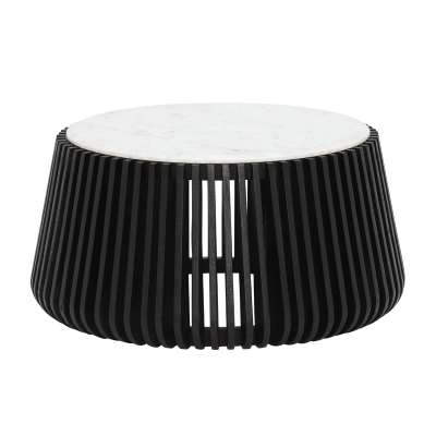 Nero Coffee Table, White Marble
