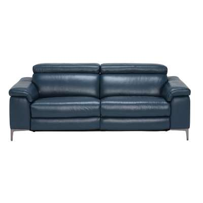 Paolo 2 Seater Recliner Sofa, Melbourne Navy Blue