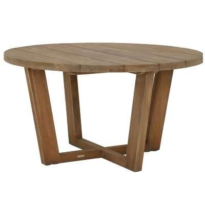 Rhodes Round Garden Dining Table, Old Grey
