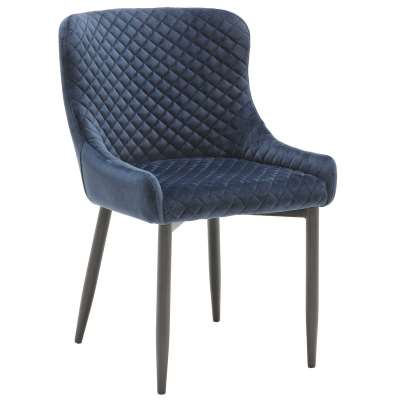 Quilted Fabric Dining Armchair - Green - Velvet - W53 x D60 x H82cm - Barker & Stonehouse
