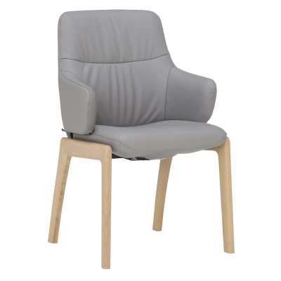 Stressless Mint Low Back Dining Armchair With D100 Legs, Batick Wild Dove