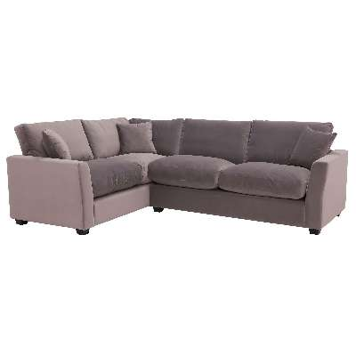 Taylor Medium Left Hand Facing Corner Sofa, Sunningdale Nickel Grey