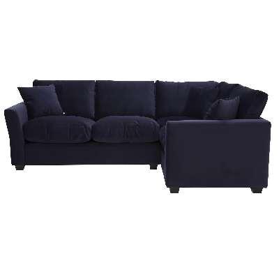 Taylor Small Left Hand Facing Corner Sofa, Sunningdale Midnight Blue