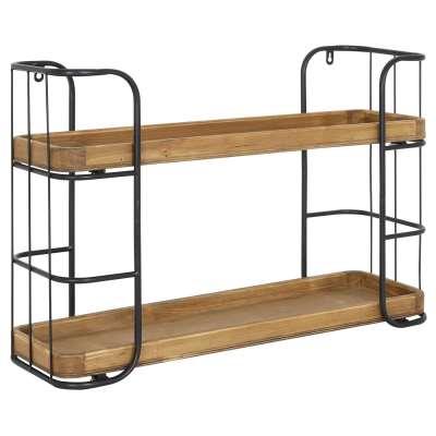 Two Tier Industrial Wall Shelf
