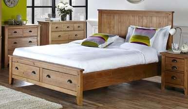 Wild Coast 2 Drawer Wooden Bed Frame