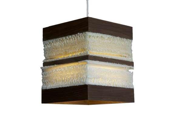 Loofah Cube Pendant Light